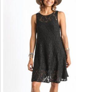 Free People | Black Miles of Lace Dress | L